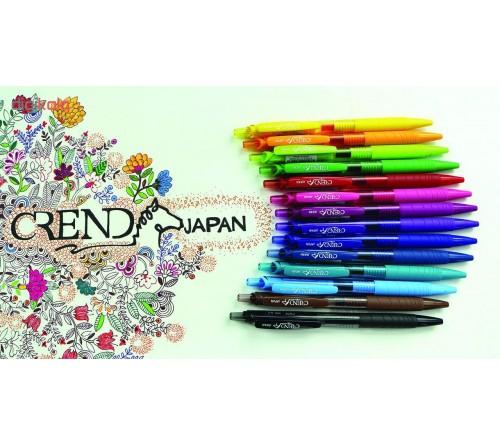 پک ۱۲ رنگی خودکار روان نویس فشاری ژله ای کرند