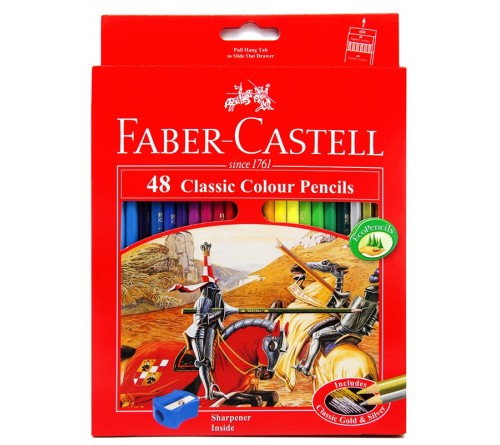 مداد رنگی 48 رنگ فابرکاستل